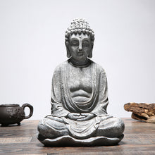 Load image into Gallery viewer, Meditating buddha statue stone