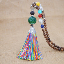 Load image into Gallery viewer, Tibetan Energy Meditation Mala Necklace