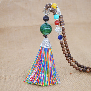 Tibetan Energy Meditation Mala Necklace
