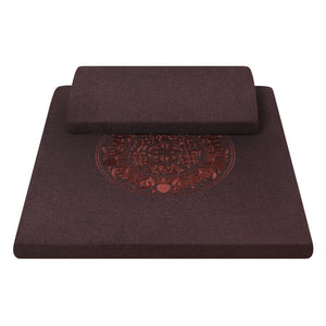 Zafu Zabuton decorated Meditation Cushion set