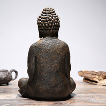 Load image into Gallery viewer, Meditating buddha statue copper