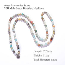 Load image into Gallery viewer, Amazonite 108 Beads Mala Bracelet or Necklace