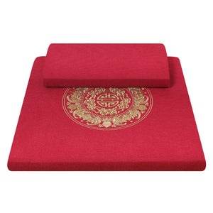 red zafu zabuton meditation cushion