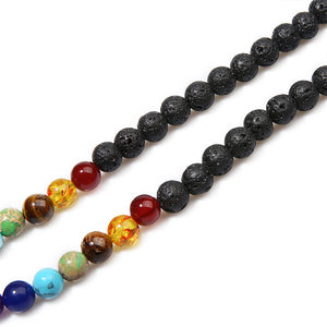 108 Beads Volcanic beads Chakra Mala Necklace