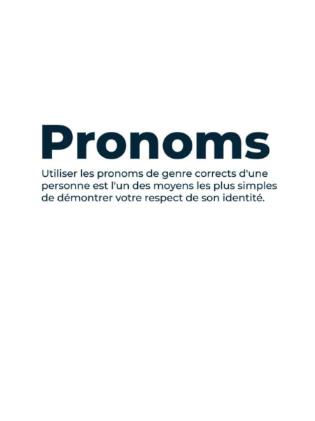 CONCEPTION DE LA LIGNE PRONOMS