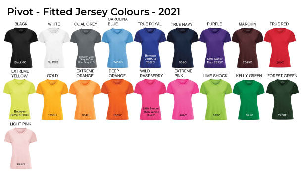 Fitted Jersey Colours
