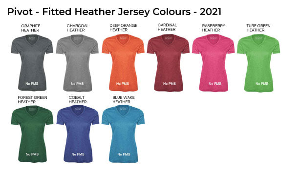 Fitted Heather Jersey Colours