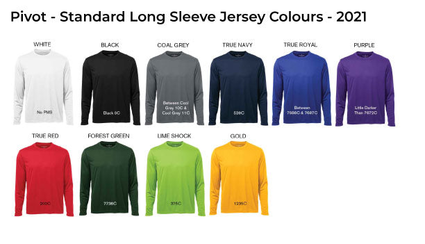 Standard Long Sleeve Jersey Colours