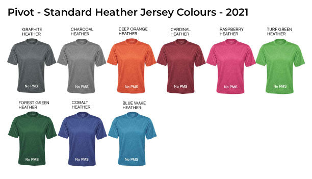 Standard Heather Jersey Colours