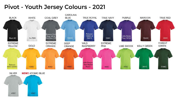 Youth Jersey Colours