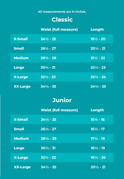 Flexlight Shorts Sizing Information