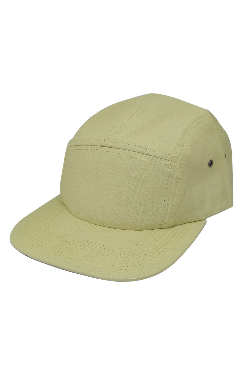 Five Panel Hat - yellow front
