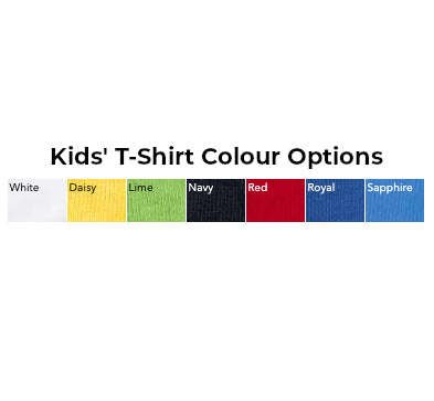 Kids' T-Shirt Colours