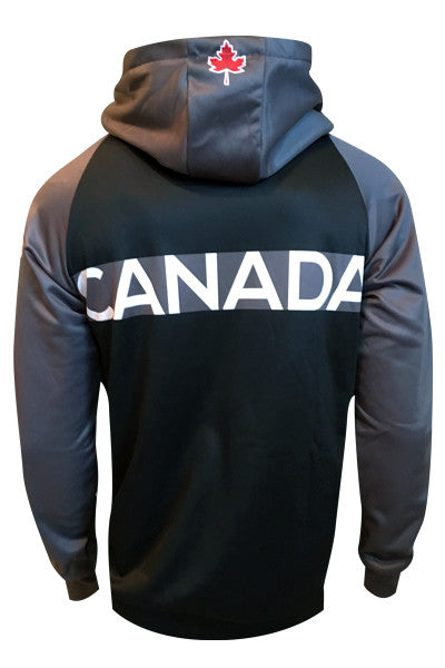 Team Canada Zip Hoodie - grey back