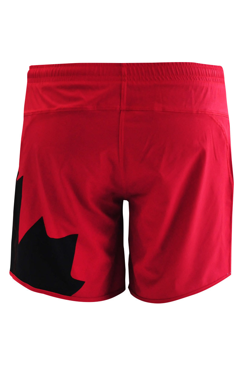 Quidditch Red Shorty Shorts - back