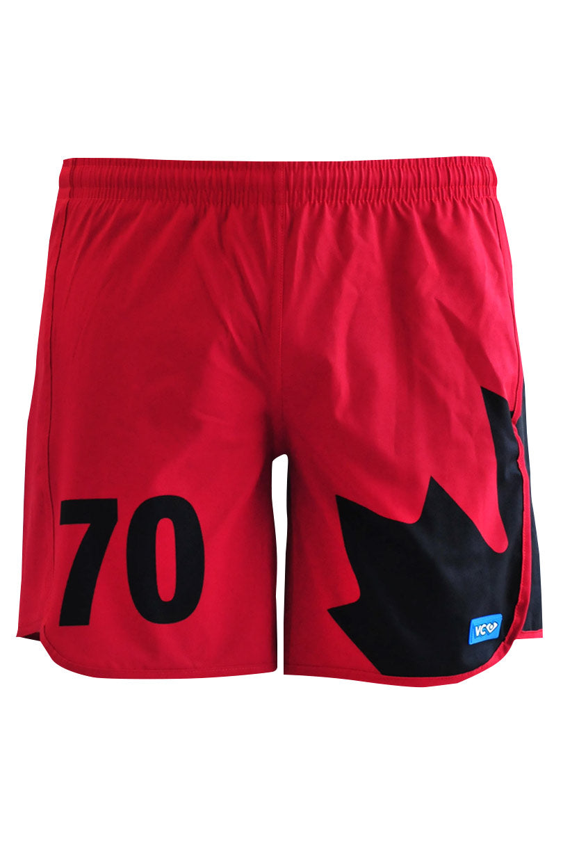 Quidditch Red Shorty Shorts - front