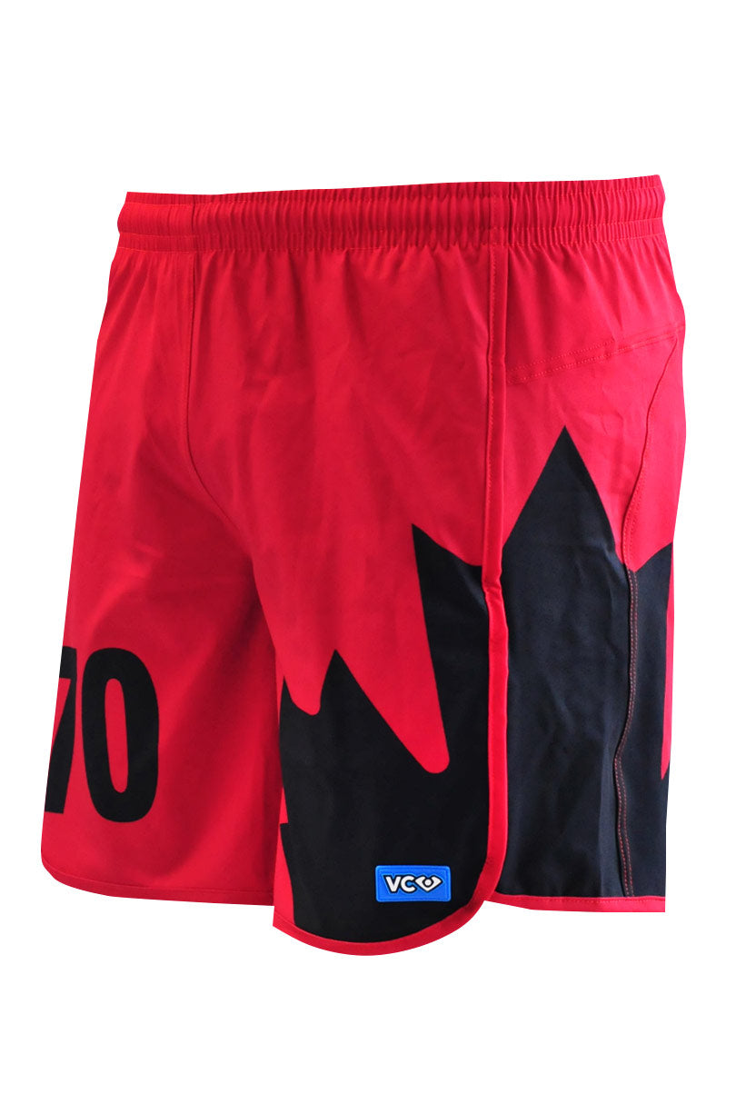 Quidditch Red Shorty Shorts - side