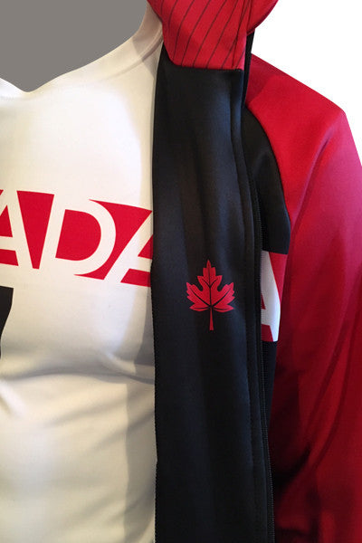 Team Canada Training Jacket - red detail