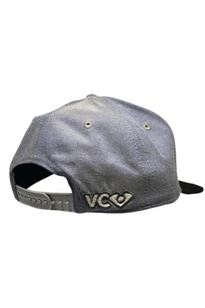 Denim/Black Snapback- back