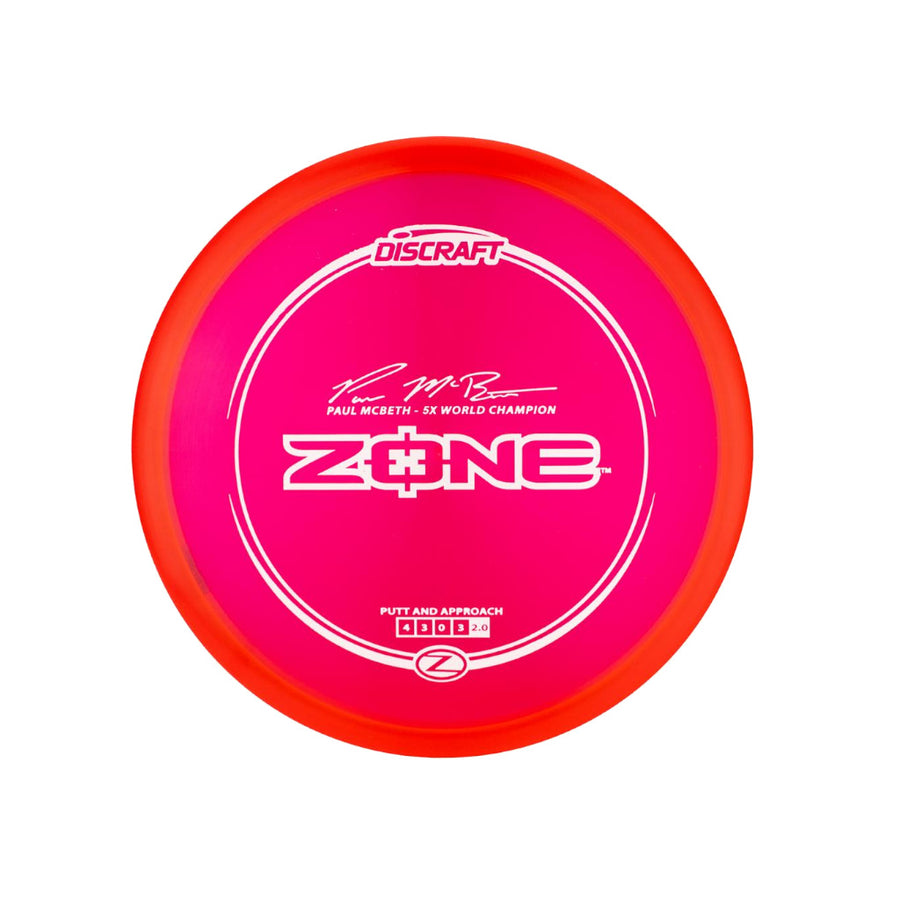 Discraft Paul McBeth Z Zone Put and Approach - VC Disc Golf