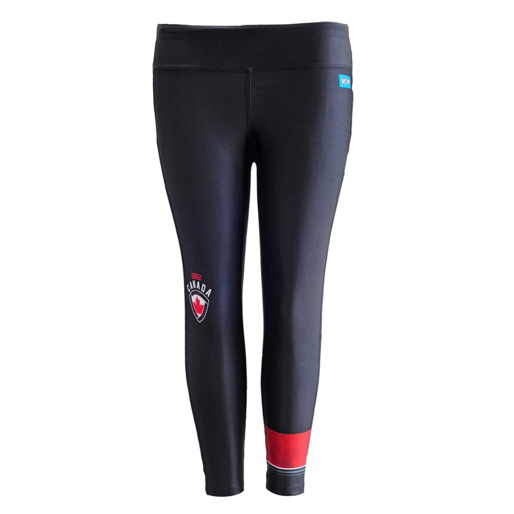 Team Canada 3/4 Length Crop Tights