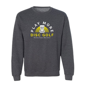 Play More Disc Golf Sunshine Crewneck