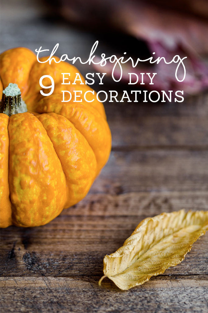 Thanksgiving Decorations That You Can Make Yourself