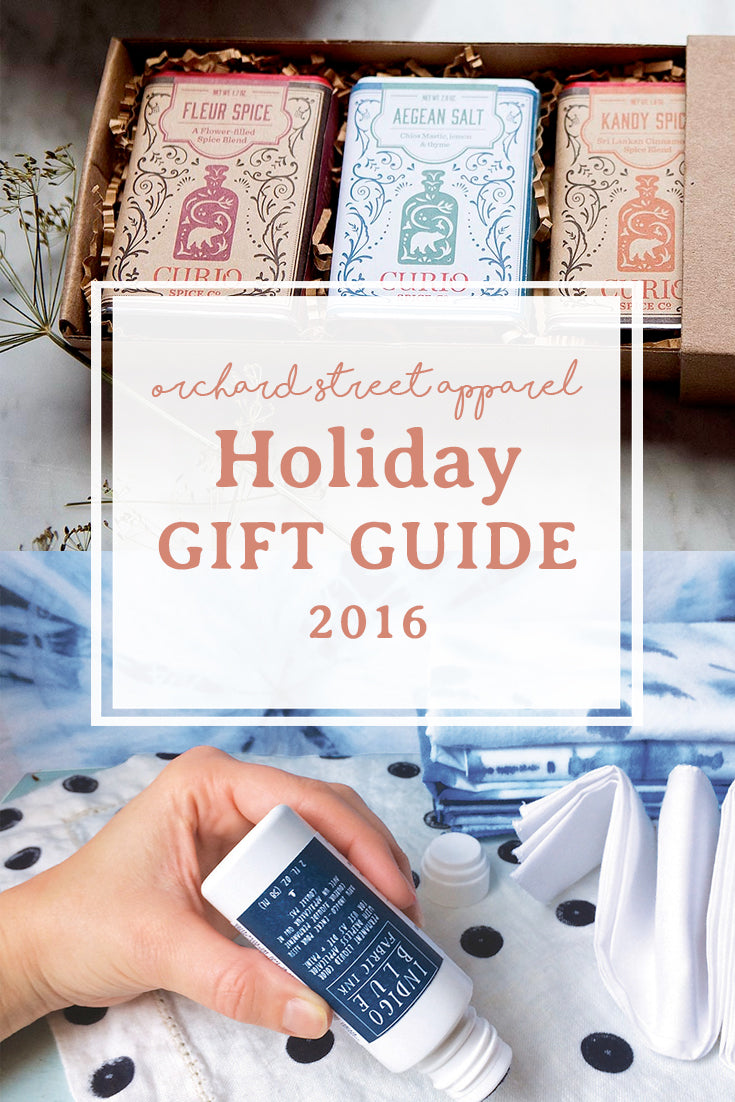 Orchard Street Apparel holiday gift guide 2016