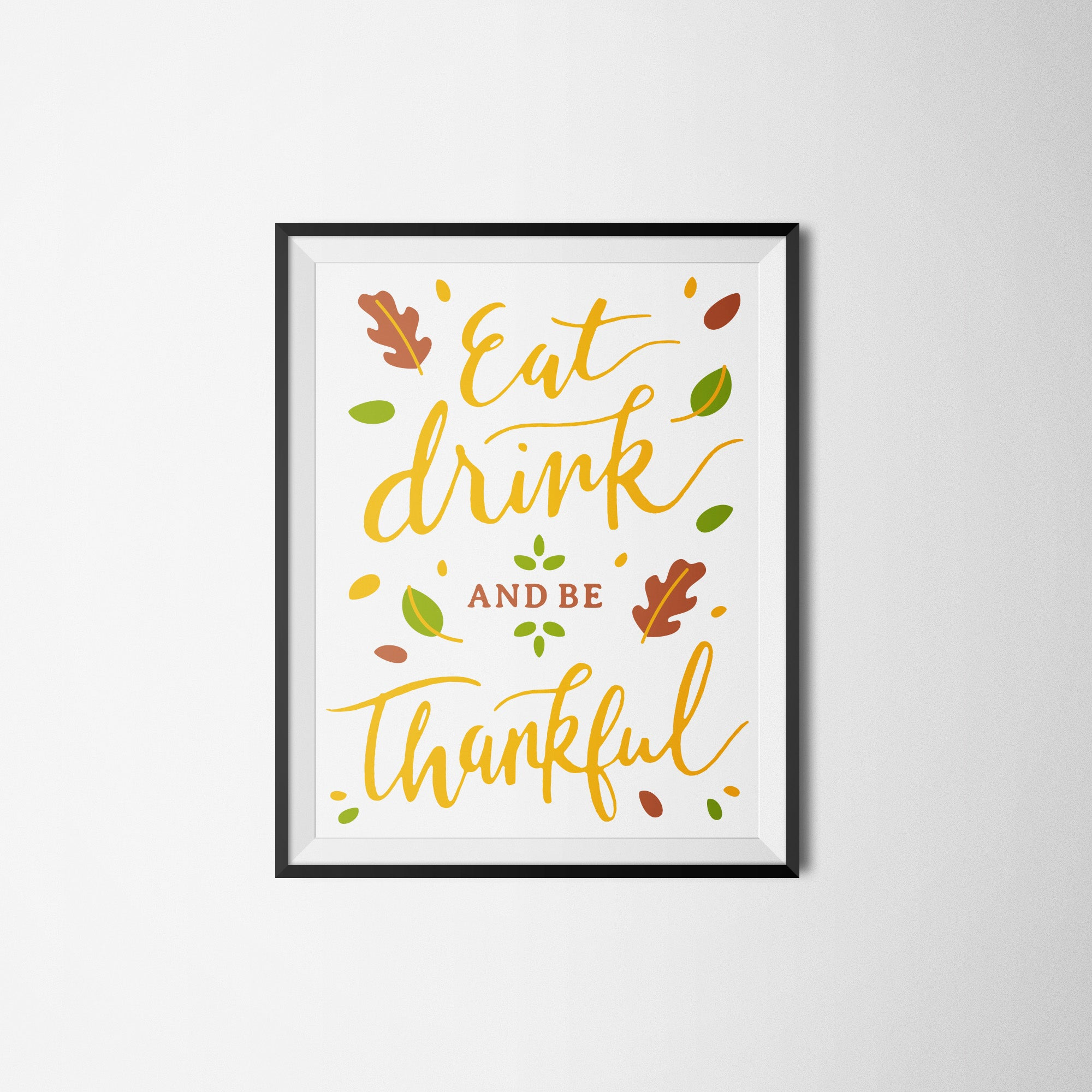 Free Thanksgiving art print printable