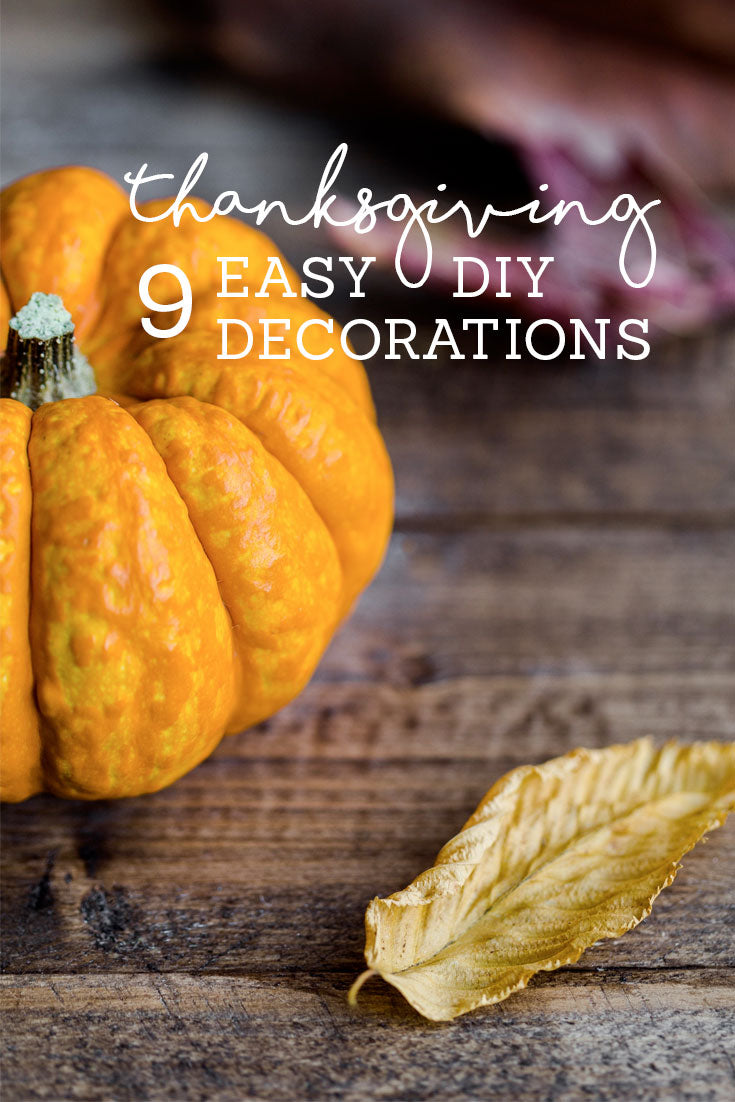 Easy DIY Thanksgiving Decorations by Orchard Street Apparel