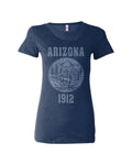 Arizona's State Seal Triblend Ladies Shirt
