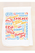 Flour Sack Towel: Chicago Sign Foods