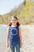 Little Dipper Triblend Indigo Toddler Tank Top
