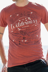 The Wilderness is Calling Triblend Clay Unisex T-shirt