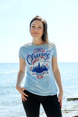 City by the Lake Chicago Blue Ladies Shirt