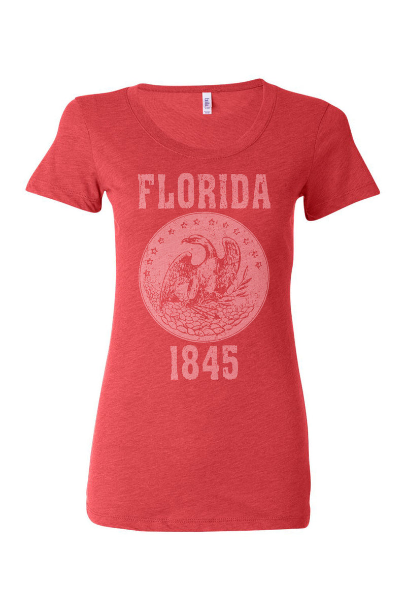 Florida State Seal Triblend Ladies Shirt