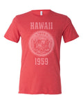 Hawaii State Seal Triblend Unisex T-Shirt