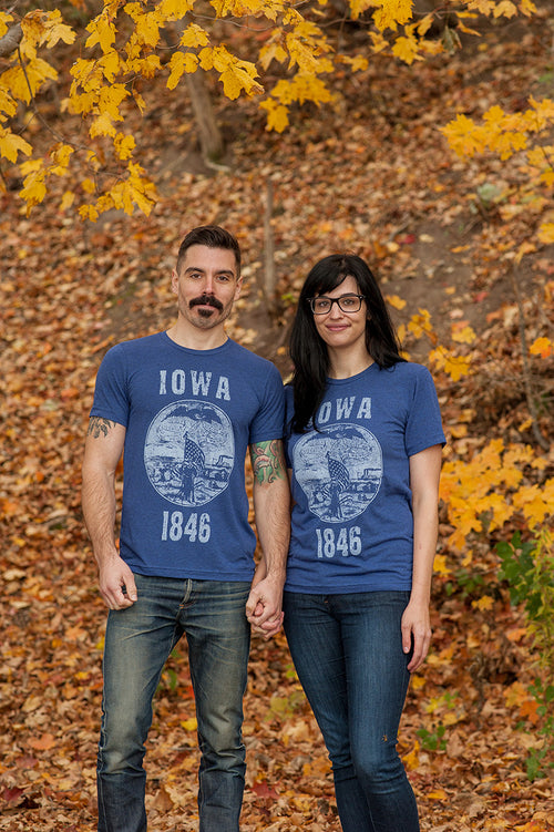 Iowa State Seal Triblend Unisex T-shirt