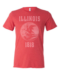Illinois State Seal Triblend Unisex T-shirt