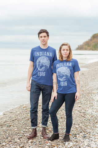 Indiana State Seal Triblend Unisex T-Shirt