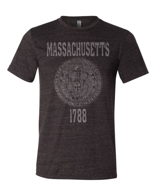 Massachusetts State Seal Triblend Unisex T-Shirt