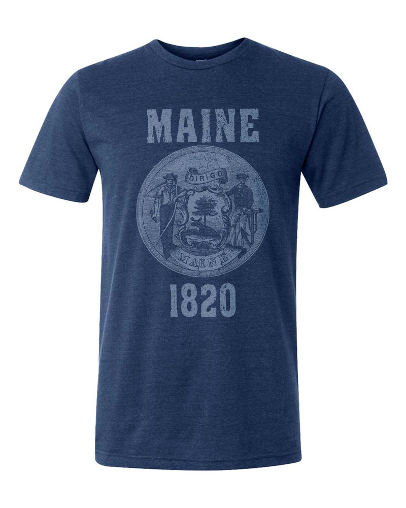 Maine State Seal Triblend Unisex T-Shirt