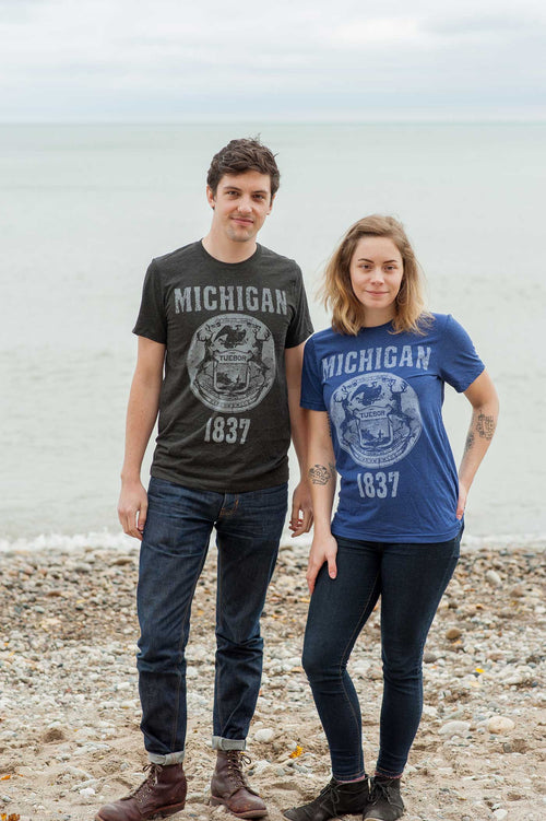 Michigan State Seal Triblend Unisex T-shirt