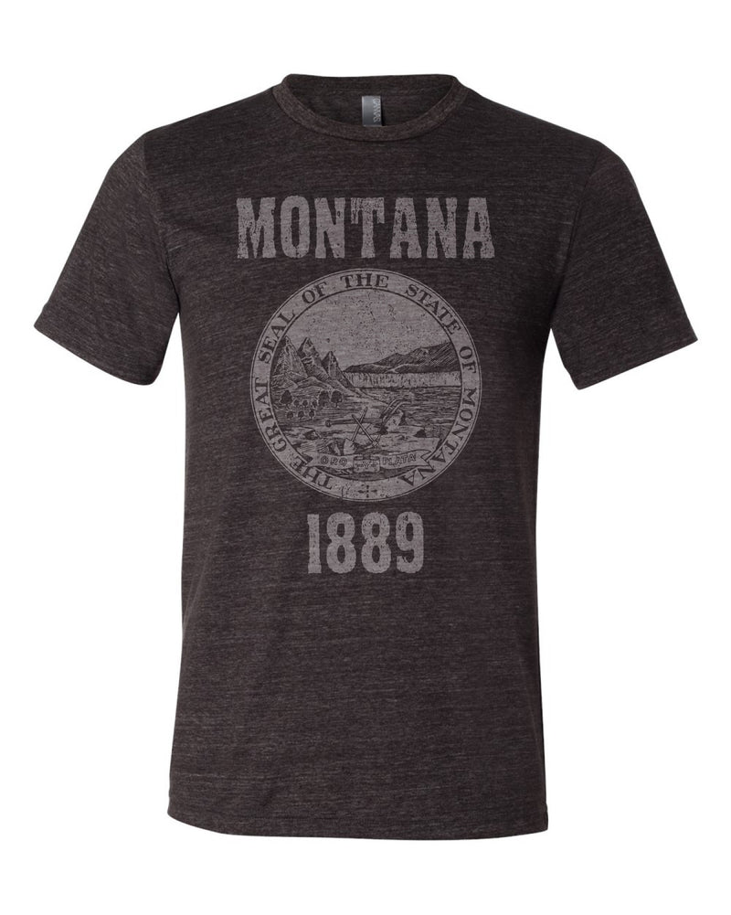 Montana State Seal Triblend Unisex T-Shirt