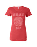 Nebraska State Seal Triblend Ladies Shirt