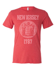 New Jersey State Seal Triblend Unisex T-Shirt