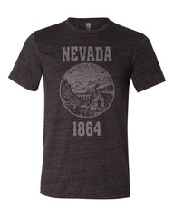 Nevada State Seal Triblend Unisex T-Shirt