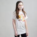 Skater Pizza Unisex Youth Mask. 100% Kona Cotton kids mask for boys and girls. Made in the USA.