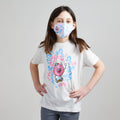 Skater Doughnut Unisex Youth Mask. 100% Kona Cotton kids mask for boys and girls. Made in the USA.