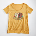 Girl Gang Ladies T-shirt. Gold Womens Girl Power tee. Celebrates Women. Made in USA.